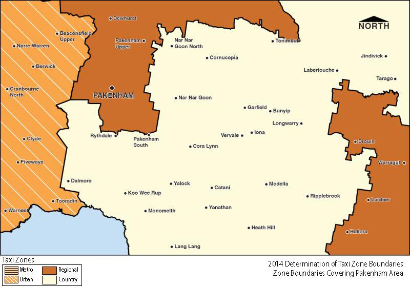 Regional Zone Map - Pakenham