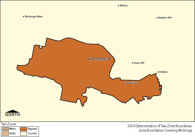 Regional Zone Map - Wodonga
