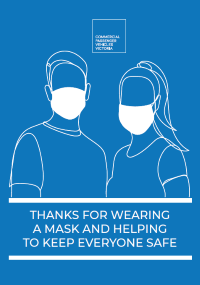 Thanks for wearing a mask and keeping everyone safe