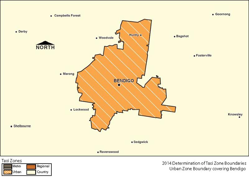 Urban Zone Map - Bendigo