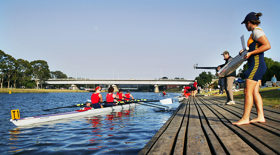 Rowers at an event