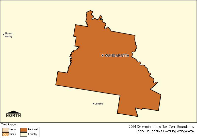 Regional Zone Map - Wangaratta
