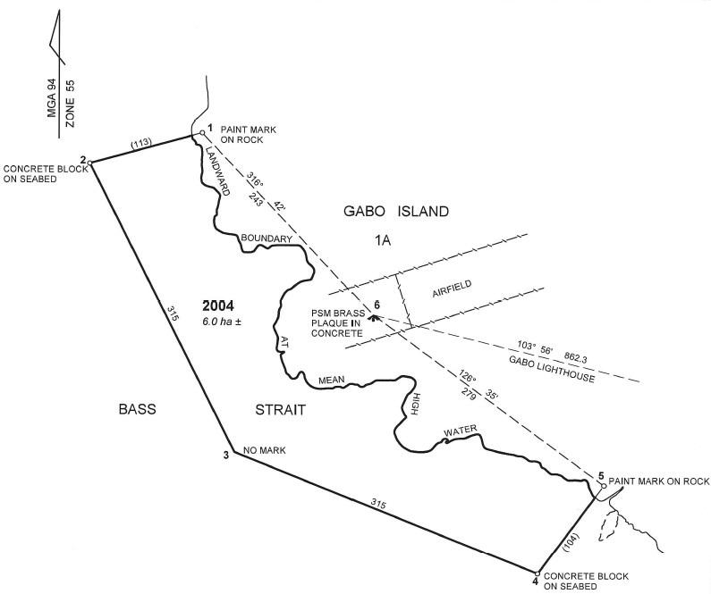 Gabo Island map