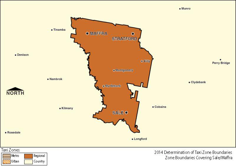 Regional Zone Map - Sale & Maffra