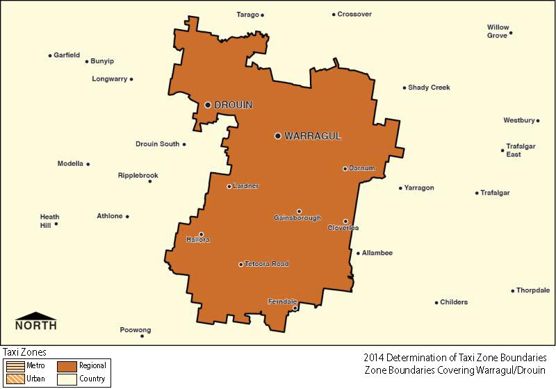 Regional Zone Map - Warragul-Drouin