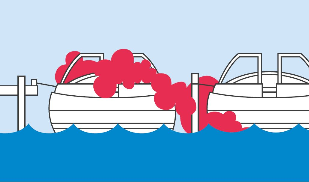 Carbon monoxide from another boat