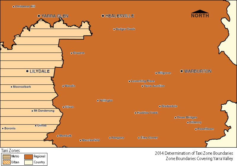 Regional Zone map - Yarra Valley