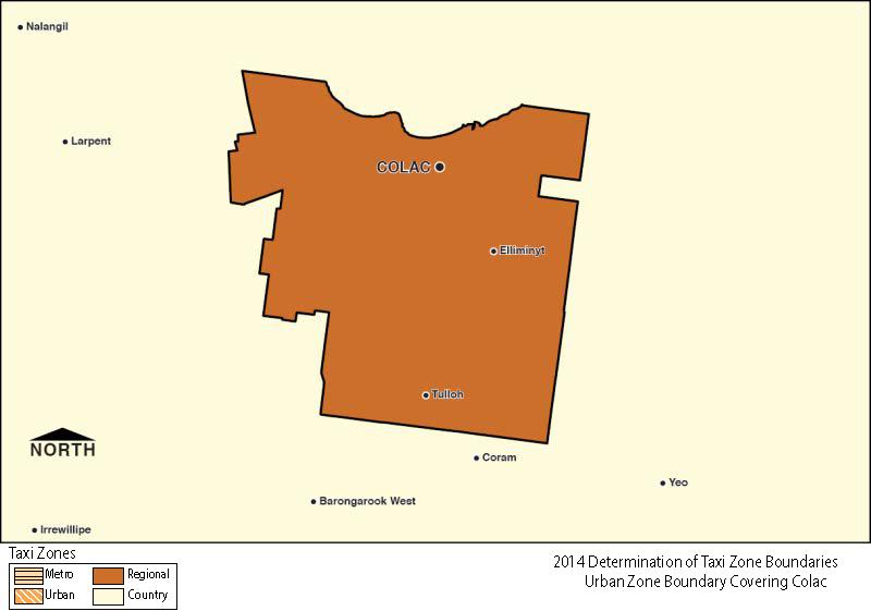 Regional Zone Map - Colac