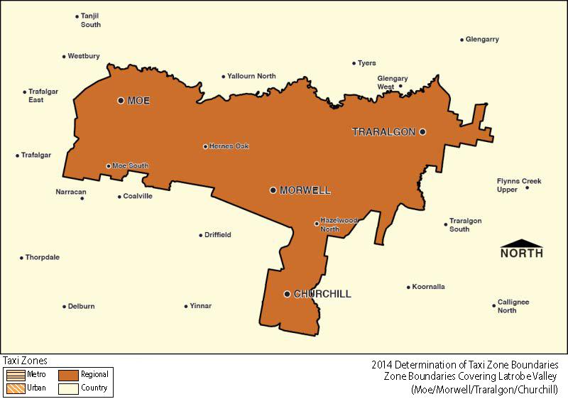 Regional Zone Map - Latrobe Valley