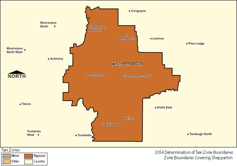 Regional Zone Map - Shepparton