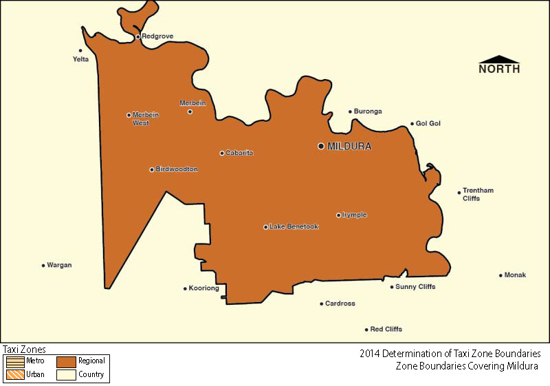 Regional Zone Map - Mildura