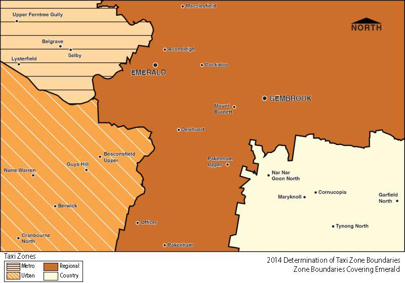 Regional Zone Map - Emerald
