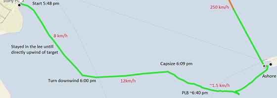 Stony Point capsize map